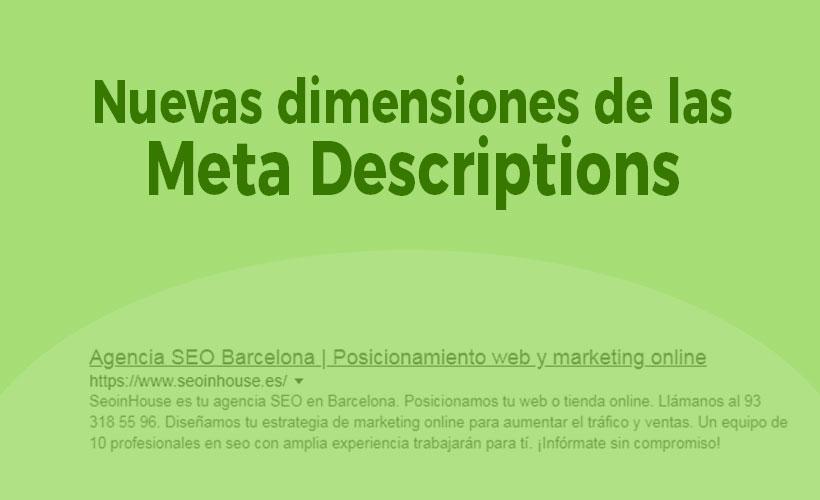 Meta Descriptions nuevas dimensiones