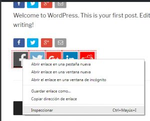 cómo implementar y traquear los botones sociales en wordpress