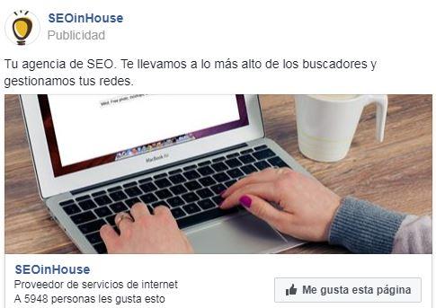 tipos de anuncios de facebook ads página