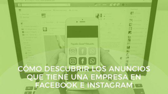 saber anuncios de una empresa en facebook en facebook e instagram