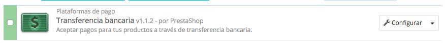 trasnferencia bancaria