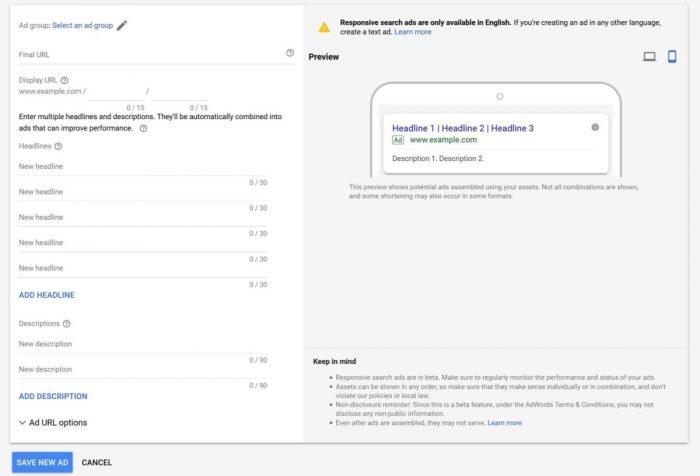 google adwords busqueda responsive