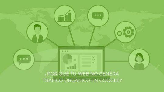 ¿Por qué tu web no genera tráfico orgánico en Google? Vamos a diagnosticar tu web para ver porque no tienes el tráfico orgánico que deberías.