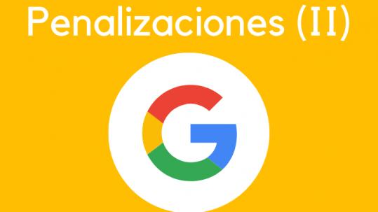 tipos de penalizaciones de Google